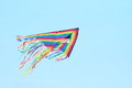 Flying kite colorful for kids in sky Royalty Free Stock Image