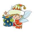 Flying little elf