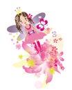 Flying little fairy girl