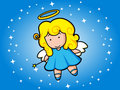 Flying night angel Stock Image