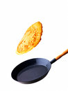 Flying pancake Stock Images