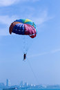 Flying With A Parachute Over T...