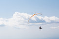 Flying paraglider in the sky Royalty Free Stock Photo