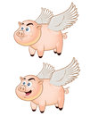 Flying pig mascot vector illustration of for business or personal Royalty Free Stock Photos