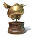 Flying Pig Trophy Award Royalty Free Stock Photo