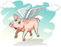 A flying pig Royalty Free Stock Photo