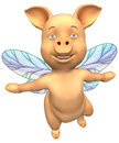 Flying Piggy Royalty Free Stock Photography