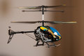 Flying RC helicopter Stock Photo