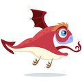 Flying red little dragon file eps format Royalty Free Stock Photos