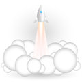 Flying rocket vector illustration of Stock Images