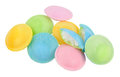 Flying saucer novelty sweets sherbet filled rice paper isolated on a white background Royalty Free Stock Image