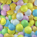 Flying saucers sweets sweet background retro collection Royalty Free Stock Photography