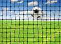 Flying Soccer ball Stock Photo