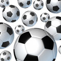 Flying Soccer Balls Stock Photo