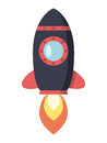 Flying space rocket Royalty Free Stock Photo