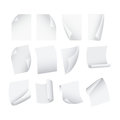 Flying Template Blank White Paper Set. Vector Royalty Free Stock Photo
