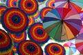 Flying Umbrellas Royalty Free Stock Photo