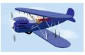 Flying Vintage Airplane Royalty Free Stock Photo