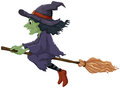 A flying witch Royalty Free Stock Photo