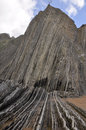 Flysch in Zumaia, Gipuzkoa, Basque Country, Spain Royalty Free Stock Image
