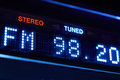 FM tuner radio display. Stereo digital frequency station tuned Royalty Free Stock Photo