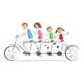 Fmaily enjoying Bicycle Ride Stock Images