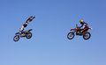 FMX Riders Royalty Free Stock Images