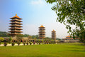 Fo guang shan trees district kaohsiung taiwan november taiwan s largest buddhist temple buddha temple is a mahayana buddhist Stock Photography