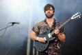 Foals singer and guitarist yannis philippakis of english band during performance at festival rock for people in hradec kralove Stock Photo