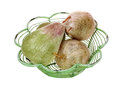 Foam Apples Pears Wire Basket Royalty Free Stock Photo