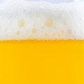Foam and bubble beer Royalty Free Stock Photo