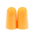 foam ear plugs isolated on white Royalty Free Stock Photo