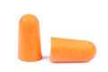 foam ear plugs  on white Royalty Free Stock Photo