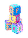 Foam Letter Cubes Stock Photography