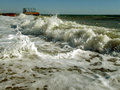Foam from the sea wave