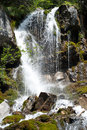 Foamy valley waterfall Royalty Free Stock Photo