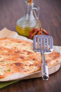 Focaccia with zucchini. Stock Photo