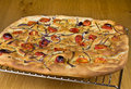 Foccacia with Tomatoes and Onions Royalty Free Stock Photos