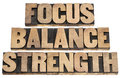 Focus, balance, strength Royalty Free Stock Photography
