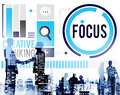 Focus concentrate definition target point concept Royalty Free Stock Images