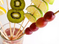 Focus the grape and various fruit Stock Photos