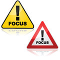 Focus sign Stock Image