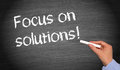 Focus on solutions Royalty Free Stock Photo