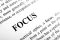 Focus the word shot with artistic selective Royalty Free Stock Image