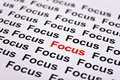 Focused on Focus Royalty Free Stock Photo