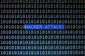 Focusing hacker attack text on computer screen Royalty Free Stock Images