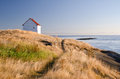 Fog alarm building historic east point saturna island bc Stock Images
