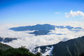 Fog from fansipan summit in sapa vietnam Royalty Free Stock Photo