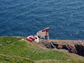 Fog horn , Mull of Galloway Lighthouse Royalty Free Stock Photo