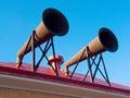 Fog horns split rock lighthouse minnnesota Royalty Free Stock Images